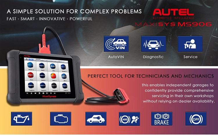 AUTEL MaxiSYS MS906 is replacement of Autel MaxSys DS708