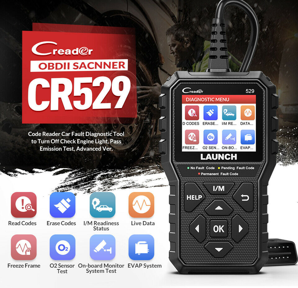 Launch Creader 529 basic function