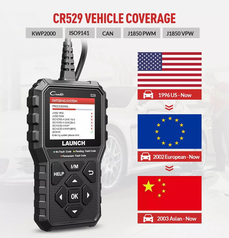 supplying Launch CR529 auto scanner